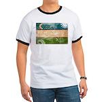 Uzbekistan Flag Ringer T