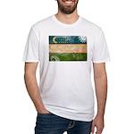 Uzbekistan Flag Fitted T-Shirt