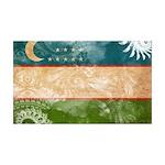 Uzbekistan Flag 38.5 x 24.5 Wall Peel