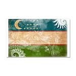 Uzbekistan Flag Car Magnet 20 x 12