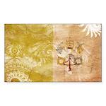Vatican City Flag Sticker (Rectangle 50 pk)