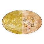 Vatican City Flag Sticker (Oval 10 pk)