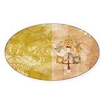Vatican City Flag Sticker (Oval)