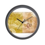 Vatican City Flag Wall Clock