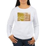 Vatican City Flag Women's Long Sleeve T-Shirt