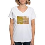 Vatican City Flag Women's V-Neck T-Shirt