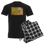 Vatican City Flag Men's Dark Pajamas