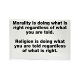 Morality Versus Religion Rectangle Magnet