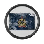 Vermont Flag Large Wall Clock