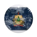 Vermont Flag Ornament (Round)