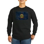 Vermont Flag Long Sleeve Dark T-Shirt