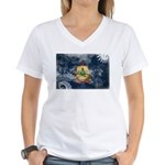 Vermont Flag Women's V-Neck T-Shirt