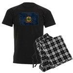 Vermont Flag Men's Dark Pajamas