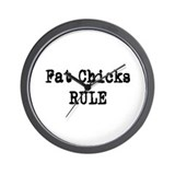 Fat Chicks Wall Clock