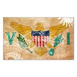 Virgin Islands Flag Sticker (Rectangle 10 pk)