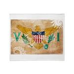 Virgin Islands Flag Throw Blanket