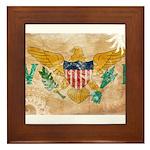Virgin Islands Flag Framed Tile