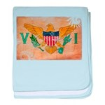 Virgin Islands Flag baby blanket