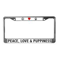 Dog License Plate Frames