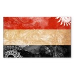 Yemen Flag Sticker (Rectangle 10 pk)
