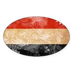 Yemen Flag Sticker (Oval)