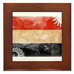 Yemen Flag Framed Tile