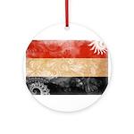 Yemen Flag Ornament (Round)