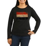 Yemen Flag Women's Long Sleeve Dark T-Shirt