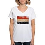 Yemen Flag Women's V-Neck T-Shirt