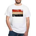 Yemen Flag White T-Shirt