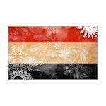 Yemen Flag 38.5 x 24.5 Wall Peel