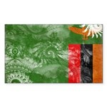 Zambia Flag Sticker (Rectangle 50 pk)