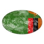 Zambia Flag Sticker (Oval)