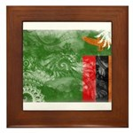 Zambia Flag Framed Tile