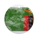 Zambia Flag Ornament (Round)
