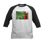 Zambia Flag Kids Baseball Jersey