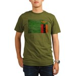 Zambia Flag Organic Men's T-Shirt (dark)