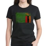 Zambia Flag Women's Dark T-Shirt