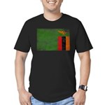 Zambia Flag Men's Fitted T-Shirt (dark)