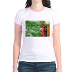 Zambia Flag Jr. Ringer T-Shirt