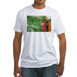 Zambia Flag Fitted T-Shirt
