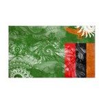 Zambia Flag 38.5 x 24.5 Wall Peel