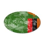 Zambia Flag 38.5 x 24.5 Oval Wall Peel
