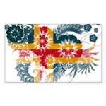 Alaska Flag Sticker (Rectangle 10 pk)