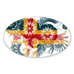 Alaska Flag Sticker (Oval 10 pk)