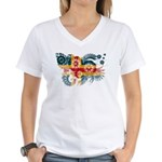 Alaska Flag Women's V-Neck T-Shirt