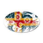 Alaska Flag 38.5 x 24.5 Oval Wall Peel