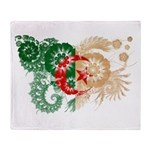 Algeria Flag Throw Blanket