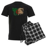 Algeria Flag Men's Dark Pajamas