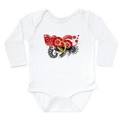 Angola Flag Long Sleeve Infant Bodysuit